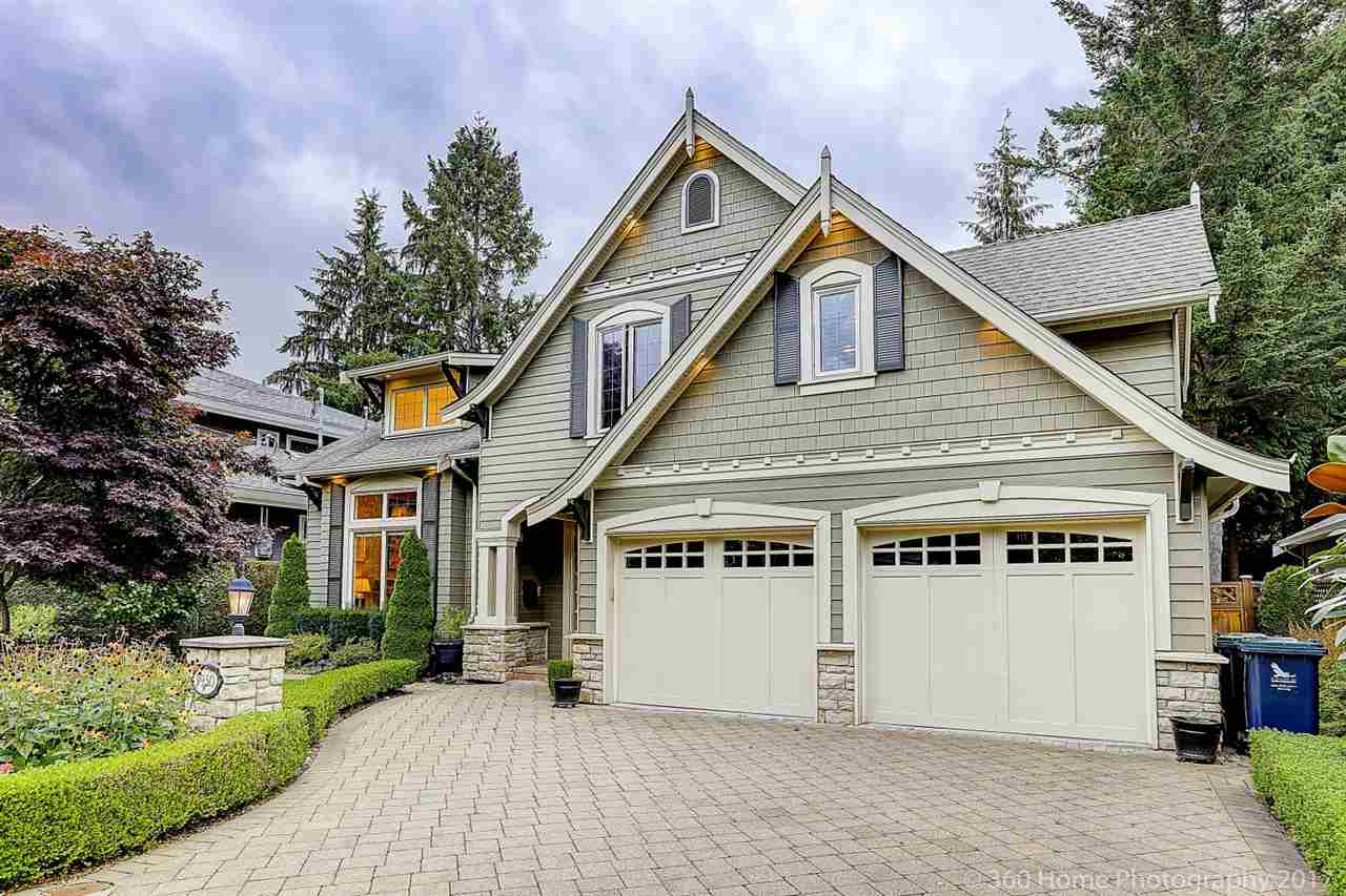 A distinctive custom built home in the heart of Edgemont Village, high quality throughout this 5,400 plus sq ft home sitting on a flat 8800 sq ft lot. This 3 level residence offers tons of features: the main floor offers formal living/dining rooms, an office, large family room and kitchen with eating area. Upstairs are 4 bedrooms including beautiful master with balcony. Downstairs is a one bedroom and den suite with separate entrance, an exercise room and media room. This home has the quality of construction that Noort is known for with the added features of a custom build, including extra built-in cabinetry and desks, HVAC, & generator. This home is steps away from Edgemont Village, Cleveland Elementary and Handsworth Secondary. Open on Sunday 22 October 2:30-4:30pm