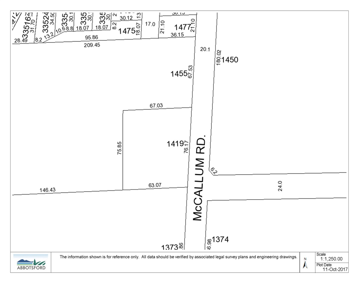Development Property in U District. Currently zoned A1 but not in the ALR, this property is designated in the OCP as Urban 3 infill, with an amendment to be put before council in November that will change the designation to Urban 2 and allow for the development of a townhome site, with the potential of townhomes with suites. The property is currently overgrown and there is no value in the home. Property slopes gently to the southeast with great views of Mt. Baker. The U District is home to the Entertainment Centre and University of the Fraser Valley. The City expects growth of 1000 students per year attending the campus.