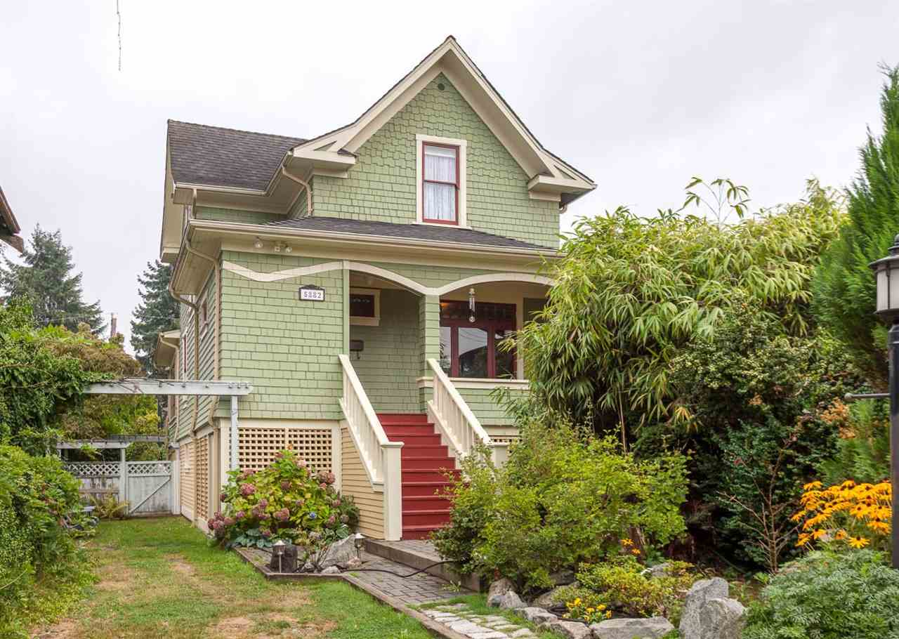 Attention heritage lovers and gardeners! This 1910 Heritage B home sits on a massive 33' x 178' lot with park like setting, perfect for laneway house while keeping your garden and privacy. This lovingly maintained and updated home offers 2,265 sq. ft. with all the character intact, such as original woodwork, stain glass windows & trim, doors, wainscoting, picture rails, light fixtures, etc. Main floor has high ceilings, big entertainment sized dining room, living room with gas fireplace, country style kitchen with eating area, and 2 pc powder room. Upstairs has 4 bedrooms, gleaming original fir floors & bathroom with claw foot tub. Basement is unfinished with good ceiling height and the potential to have a suite. Central location, close to parks, schools, shopping, & transportation.