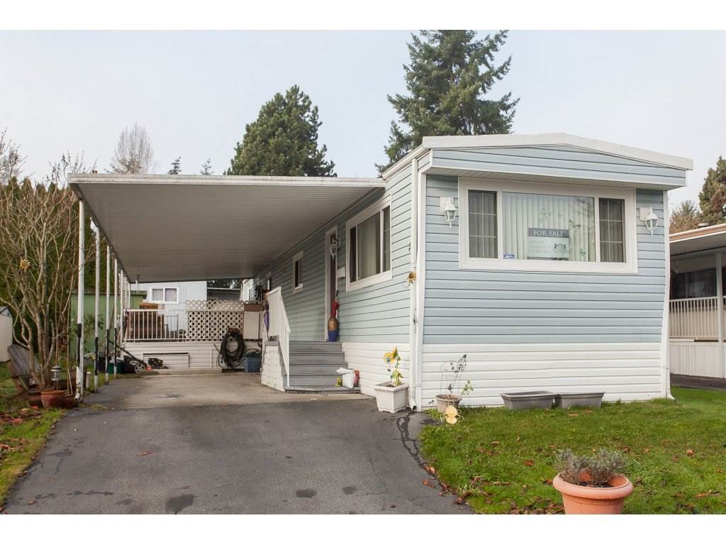 OPEN HOUSE SAT NOV 18 FROM 2:00 - 4:00 PM!  FABULOUS CRISPEN BAYS! This home 2 bedroom home is located in a wonderful mobile home park, very friendly family oriented. The home is a nice size with a large patio off the back of the home. Plenty of parking, room for 2 vehicles in the driveway and lots of visitor space. The home does require a bit of updated, so bring your decorating ideas! Outdoor pool, playground, community clubhouse, lovely landscaped grounds. Transit stop just outside community, short ride to SkyTrain or into the new Surrey City Centre. Walk to shopping, restaurants, Costco, pubs, coffee shops, recreation centre, parks and schools... all is very close by. Check it out!