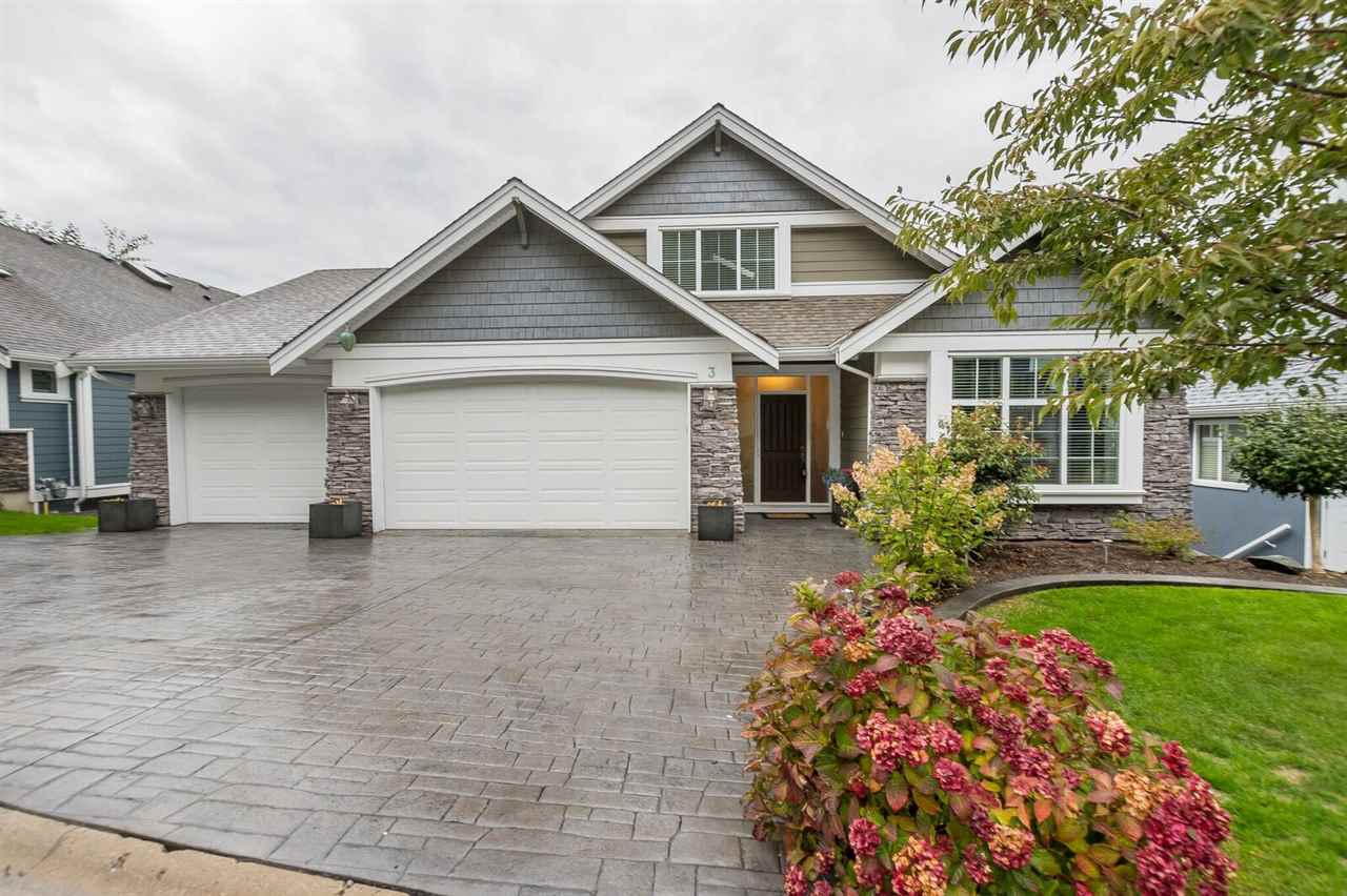 This immaculate 5 bdrm family home has it all! Main floor has lrg entrance way, a den/office with fr doors, upscale kitchen, granite countertops, hot water on demand, garburator, lrg island that opens to your living and dining room. Walk out onto your covered deck - enjoy fabulous sunsets and valley views! Lrg master on the main with beautiful 5 piece ensuite, heated tile floors and W/I closet. Upstairs boasts 1 bdrm and a loft area to sit and relax or turn into another large bedroom. Hardwood floors throughout main and upper floor. Down you have 2 lrg bdrms, a spectacular entertainment area and a ton of storage! Another covered patio, fully fenced back yard, triple garage, stamped concrete driveway! Immaculate condition!!