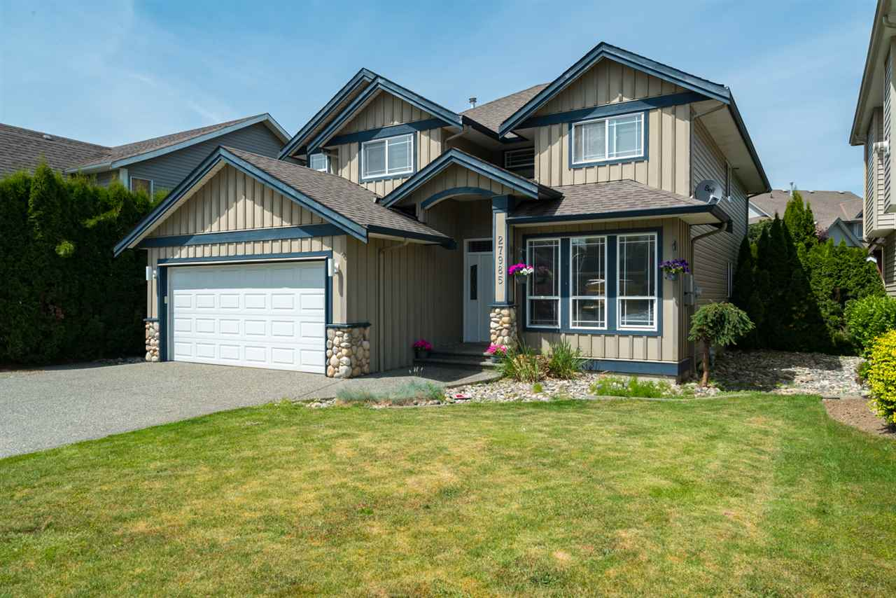 Custom built in 2003 this home has 2 BEDROOM LEGAL SUITE. Vaulted ceilings, crown mouldings, 2 gas fireplaces, family room off main and games room down. Built on a crawl space, walk-in pantry, breakfast island, sliders to balcony, double soaker tub & shower en suite. Level entry suite. NEW hot water tank. Large fenced yard with in-ground irrigation. Close to all amenities. Great tenants who would love to stay!
