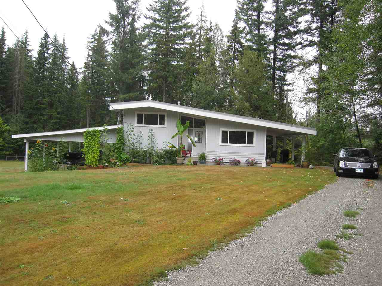 Private 2.41 acres (.976 HA) on the Maple Ridge/Mission border. Very tranquil setting. House has new roof, new furnace, new paint (inside & out), new appliances. Property has a drilled well, permitted pressurized septic system and a fully fenced yard. This could be your own little piece of paradise.