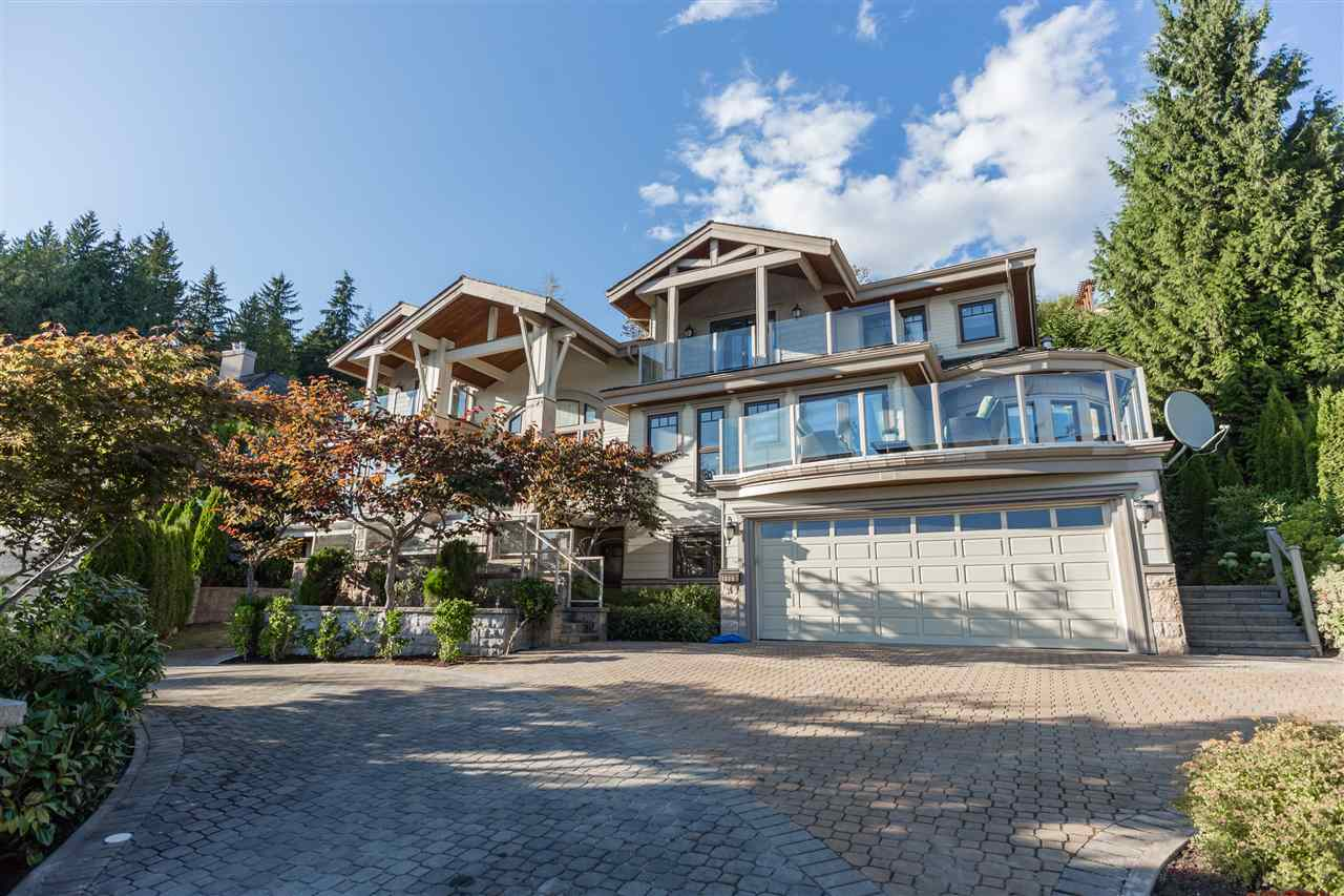Beautifully maintained home, in prestigious Centerbury Estate, the most sought after area Whitby Estate. Great south facing ocean view, Stanley Park, Vancouver Downtown & mountain view. The sumptuous master suite has gas fireplace, walk-in closet, ensuite & French doors leading to the deck. The lower level offers media room & rec room. Grand feature staircase & foyer including gourmet kitchen with separated Chinese wok kitchen, spacious 6 bedrooms, breathtaking city-ocean skyline view from balconies, air conditioning, circular driveway.
