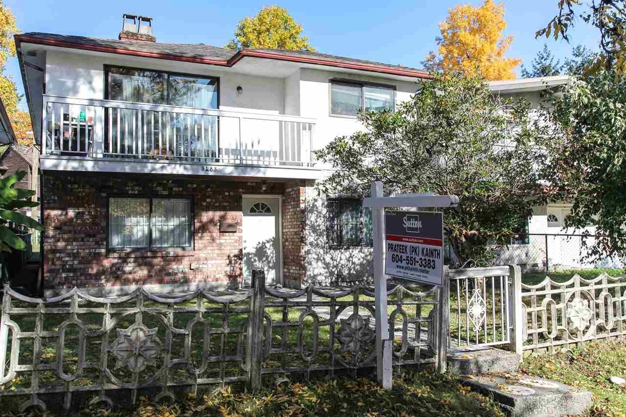 Updated Vancouver Special with laminate flooring, kitchen cabinets, tile flooring, newer roof, new hot water tank and new sundeck. Updated kitchen with Stainless steel appliances. 3 bedrooms, 2 bath up with spacious master bedroom and ensuite bathroom. Below has a one bedroom suite as AND a jr. one bedroom suite - both with separate entries and kitchens. Shared laundry under the sundeck for all to use. Single garage & back lane, level 33x110 lot. Great investment property with great income generation suites - potential rent $4000+ per month! Close to Boundary Road, schools, shopping & other amenities. Act fast!