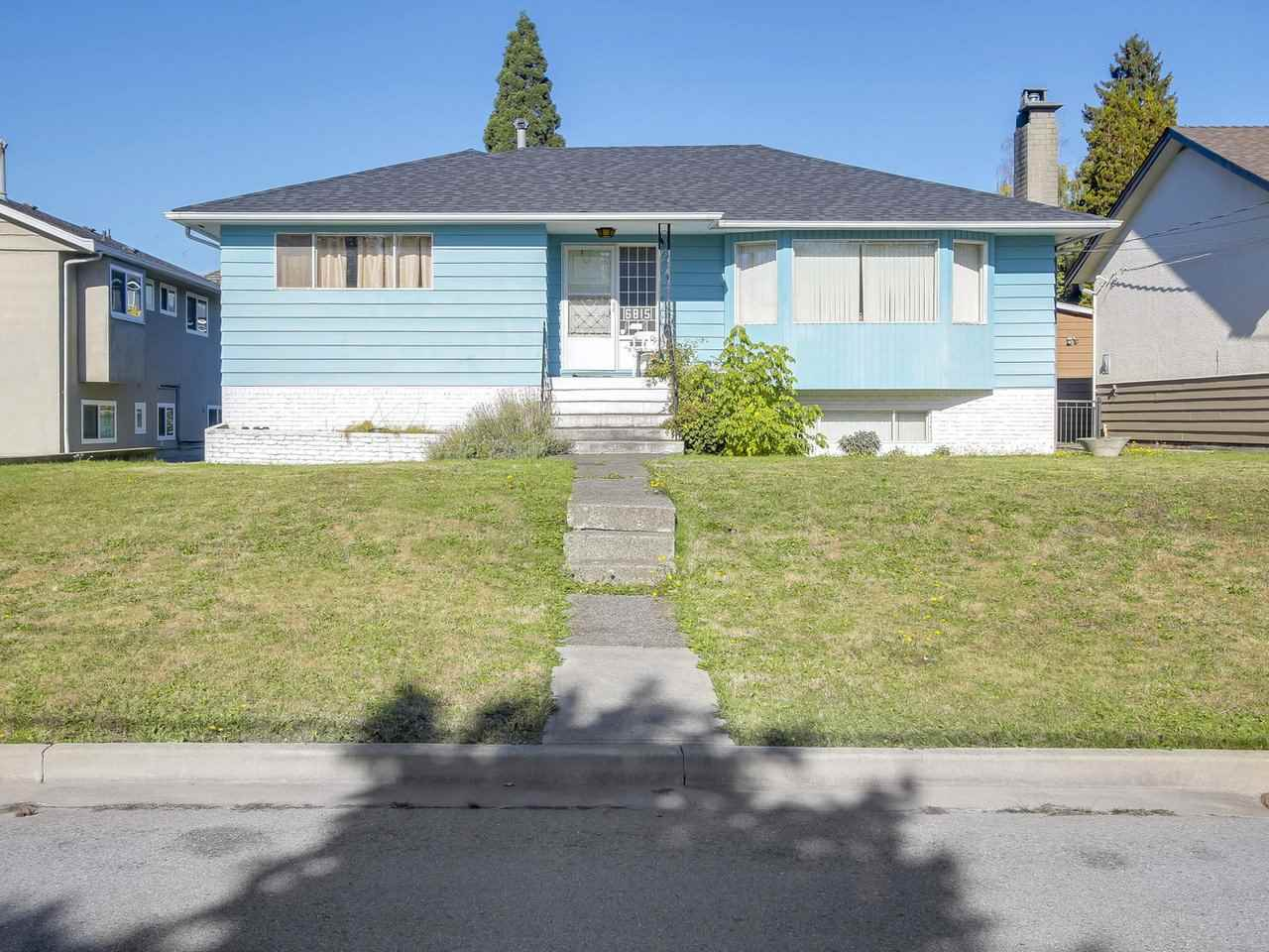 Rarely available in one of the best location of Burnaby North.  This solid well cared for home sits on a large 57X127 ft lot on a quiet  Cul-de-sac, perfect for Families.  The 2 level home offers Approx 2500 sqft of living space, main floor features  open living/dining room are space, with large windows and a large sun deck  perfect for entertaining.  The basement has its own bathroom, 2 bedroom and a rec room.  Walking distance to Sperling Elementary School, and Burnaby north Secondary catchment.  This is the perfect location for renovating, or building your dream home.  All this and a new roof. FIRST SHOWING Wednesday Nov 1st at 5pm.