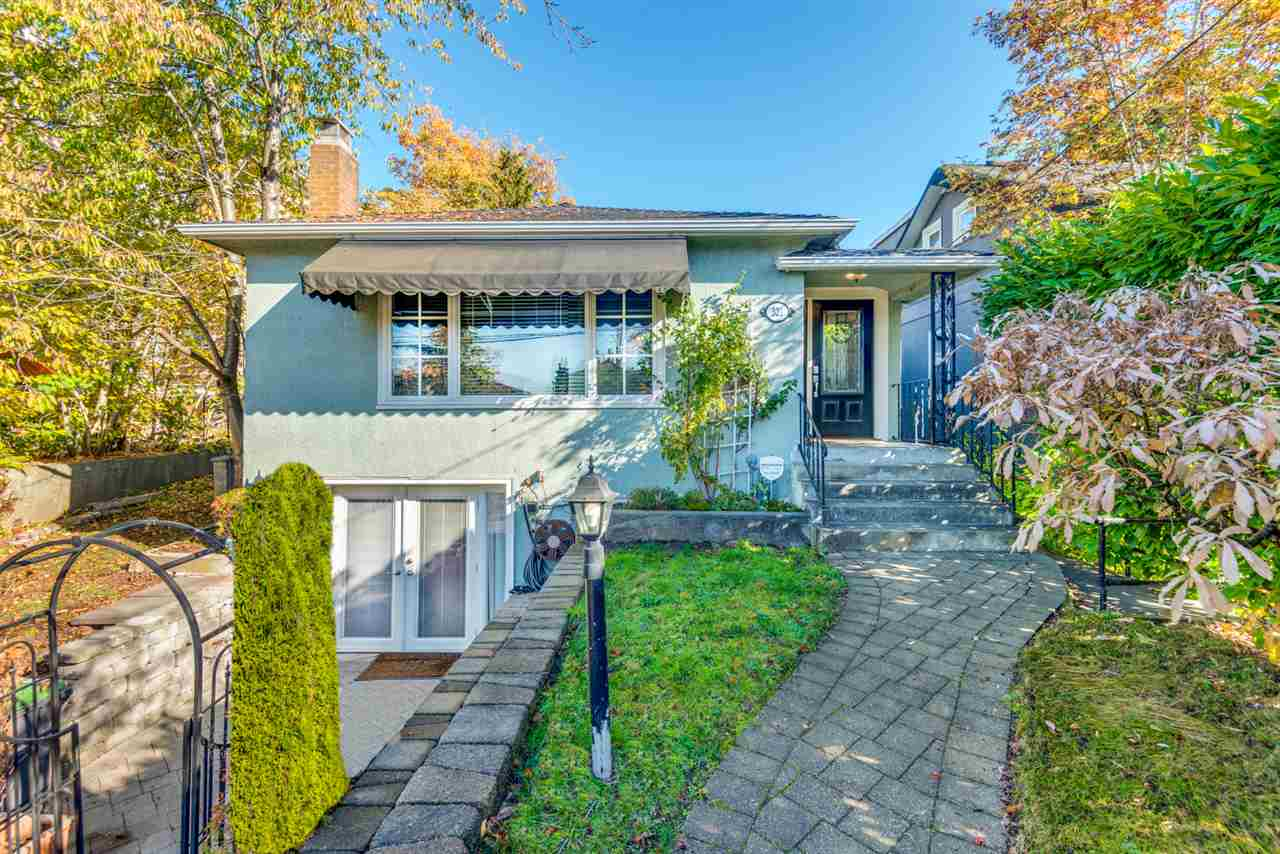 Imagine living on one of the most desirable & beautiful tree lined streets in the city! Pristinely maintained & beautifully updated 4 bed 2 bath 2529sf home on a 33x120 lot right in the heart of Queens Park! Fantastic family layout, mixed w/ the character & charm of the neighbourhood! Eat in kitchen w/ exposed brick chimney, spacious & bright living & dining rooms, 2 good sized bedrooms on the main, plus a large deck overlooking private backyard. Basement: full kitchen, large rec room, 2 bedrooms & full bath (easily suitable). New windows 2015, 4 year old roof, updated electrical. Fantastic neighbourhood & just 3 blocks to Herbert Spencer elementary, steps to Queens Park, skytrain & transit, groceries, restaurants etc. Open House Sat Nov 18th 2-4pm!