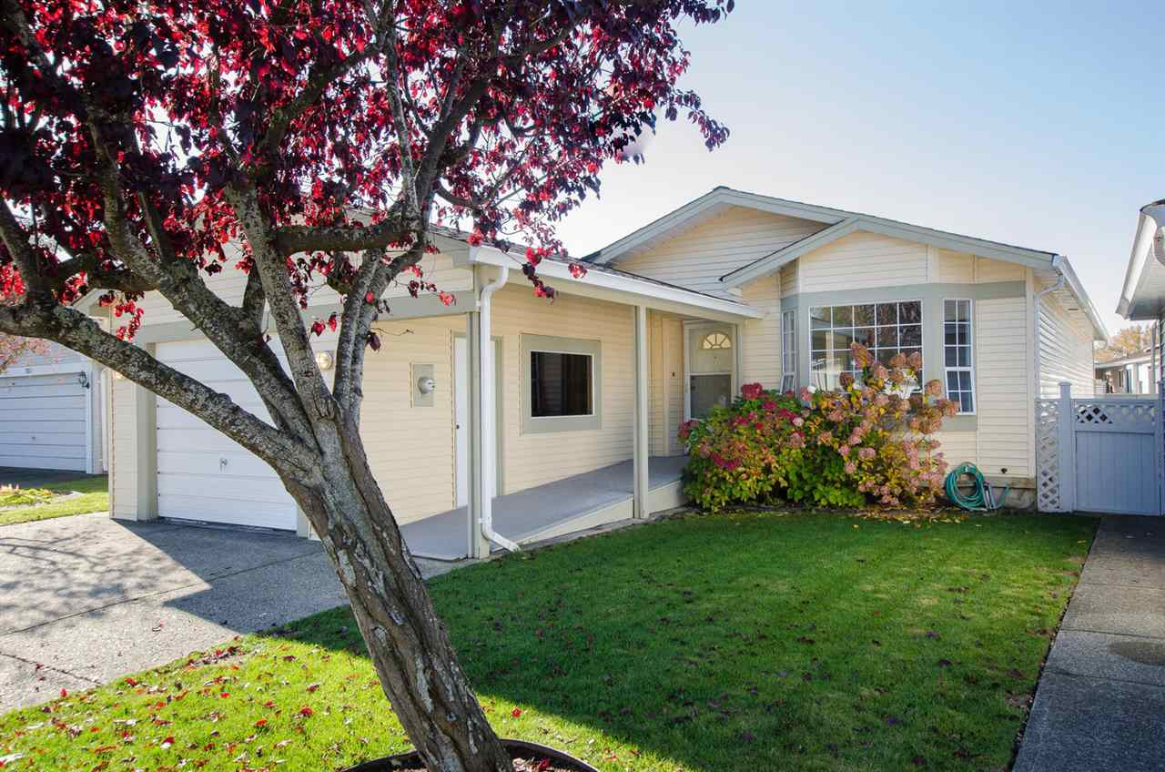 Fantastic home in popular South Pointe! Sought after adult oriented 55+ gated community in West Ladner with walking trails, Marina and golf course close by. Perfect for retirees or downsizing, this is a spacious 1300+ sq ft 2 bedroom with den home with 2 full bathrooms and plenty of parking located in a quiet cul de sac with private patio and SW exposed yard. Bright clean and well maintained with fresh paint and new roof.  Located minutes to Town enter and Tsawwassen Mills Mall.