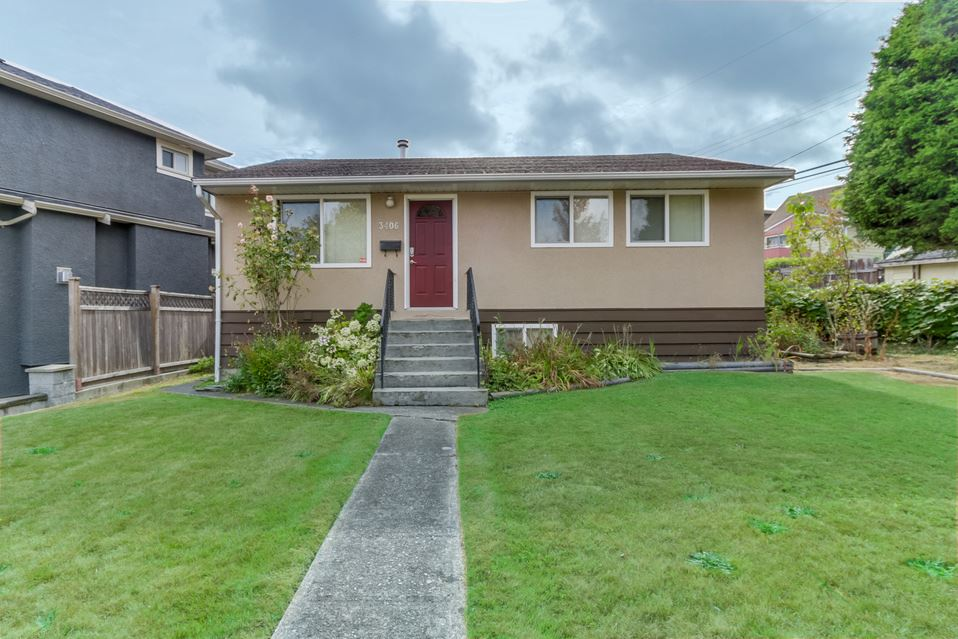 BEST VALUE in Renfrew Heights!! Priced significantly BELOW assessed value and totally livable! This 5439 sq ft lot with alley access, this home is perfect to live or to build your dream 3,800 sqft home with suite w/COV approval. 2 Blocks from Vancouver Christian Academy and Renfrew Elementary School as well as public transit, parks and shopping. On a quiet, sunny street, this 4 bedroom 2 bathroom home has been updated with features such as gas stove, in floor heating in kitchen and upper bathroom, newer windows, updated flooring and window coverings. The basement has a separate entrance with 2 bedrooms and a bathroom plus living space and a large laundry room. CALL TODAY ! OPEN HOUSE Thurs Nov 16 at 1:30-2:30PM