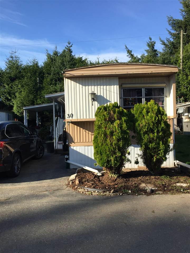Newton Mobile home park! Age restrictions 55+, no dogs allowed cats ok, Pad rent $620 a month includes sewer, garbage collection and water. Quiet and private location in park. Two bedroom and storage room, full bath, double carport backs onto park... walk to bus stop, few minutes drive to Costco, Superstore, restaurants, Newton Wave Pool and more.