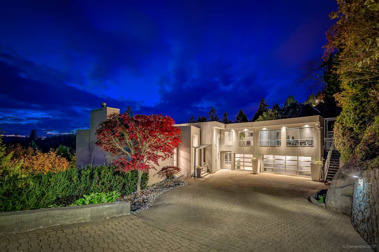 Nestled in the trees with water views, this contemporary jewel of a home is located on the hillside of West Vancouver's Rockridge neighborhood. Every inch of this home was lovingly restored in 2008 and a third car garage and workshop was added in 2011. Even the most scrutinizing home buyer will be pleased by the form and function of this architectural showpiece. Like a work of art, you will notice new details at every turn. Whether it's the Sub Zero Fridge and Wine Cooler, Thermador Stove, built in Miele Coffee maker, or Sonos wireless home sound system, this modern home is both classy & quietly impressive. Your master bedroom is tucked away for privacy & boasts a magnificent water view. Relax in the private Jacuzzi & sauna. OPEN HOUSE SUNDAY JANUARY 7, 2018 2PM - 4PM.