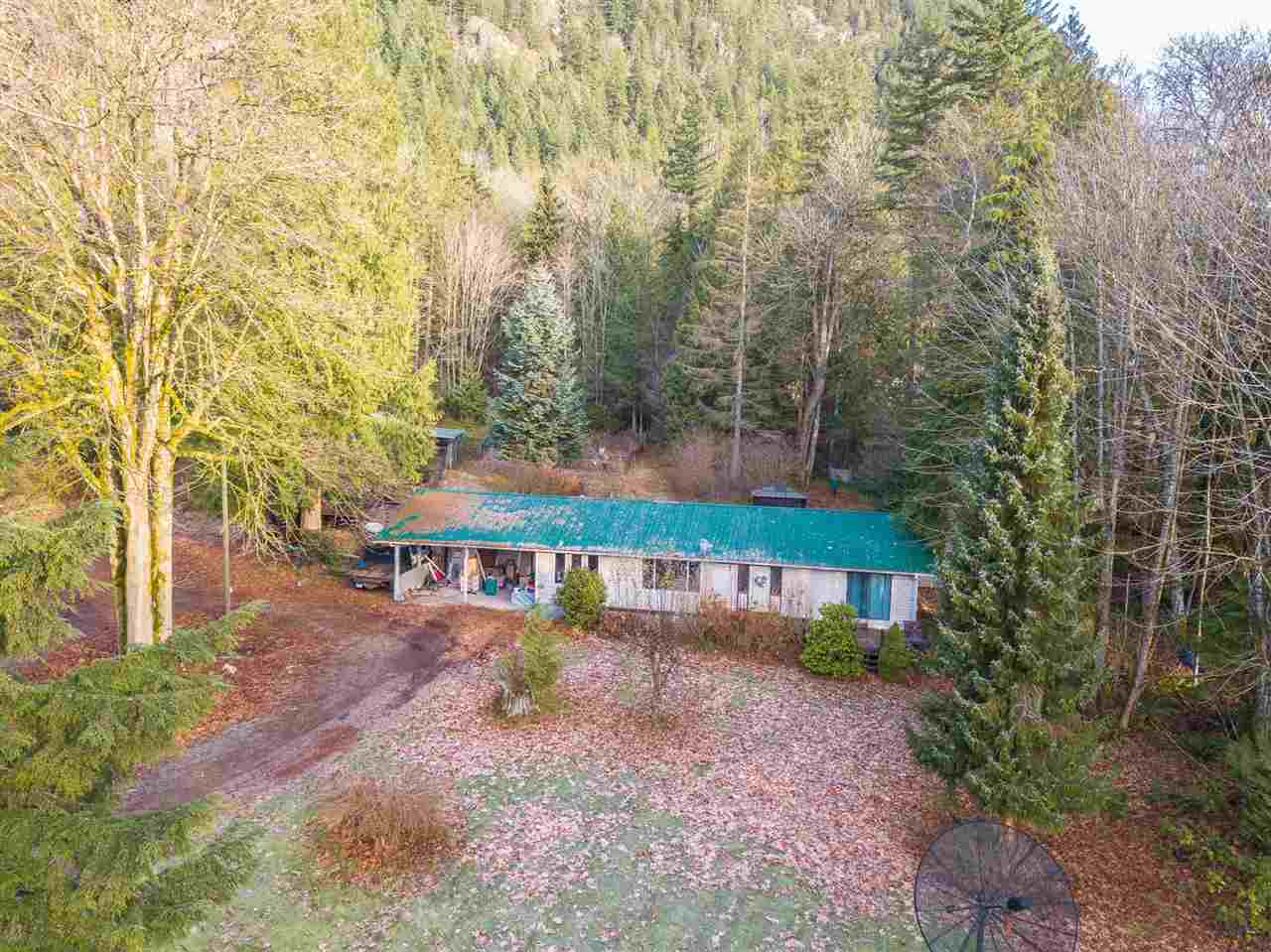 10 Acres of PRIVATE pristine beauty 20 mins East of Mission.  4 bdrm clean and airy open concept rancher surrounded by mountains and fruit trees. Walk your acreage to enjoy Gerard Creek and Waterfall. Sit back and listen to the birds in your gazebo, or drive a short distance to play golf. Endless opportunities for the avid recreationalist. Huge fenced backyard for the kids. Bring the in-laws, bring your pets, bring your toys. Garden and Greenhouse. Dog Kennels & Runs, Chicken Coop with Storage Shed, Covered Woodshed. If unique privacy in a beautiful setting is what you are looking for...search it, see it, love it!