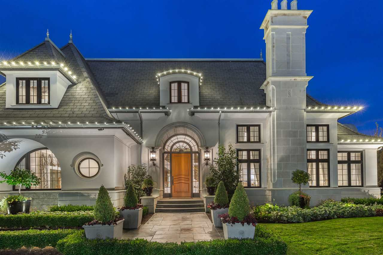 This custom-built home by Rodell Homes, is one of the most prestigious homes ever produced in Highpoint Estates.  This 8357 sq ft home with 5 bedrooms, and 8 baths is built with such love and care.  This property is half an acre, but also borders on half an acre of parkland, and a private lake giving ample area to enjoy, and provides the opportunity to enjoy views of visiting migratory birds on the lake. When one arrives at this property, you are welcomed by beautiful wrought iron gates, stone pillars, and a knowledge that you are about to experience something magical.