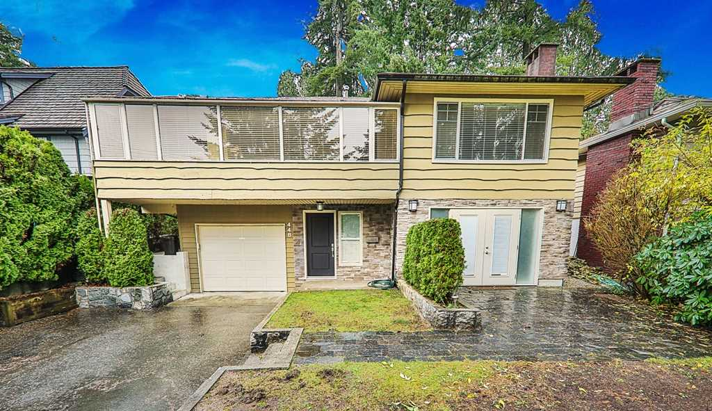 Enjoy the south-westerly outlook and peek-a-boo views to Downtown form this renovated 4 bedroom Upper Lonsdale Home! No expense spared in the recent remodel which includes gorgeous solid hardwood floors, new kitchen with solid cabinetry, granite counters and stainless appliances, designer bathrooms and paint colours, all new lighting plus upgraded roof and mechanical. Outdoor area includes a massive entertainment deck at rear with complete privacy. The upper level boasts a very large open great room theme with ample room for guests plus a feature wall and gas fireplace in living room. The lower level has 4th bedroom or a perfect in-law accommodation with consistent finishing's throughout. Great family home in this very central and quiet location!
