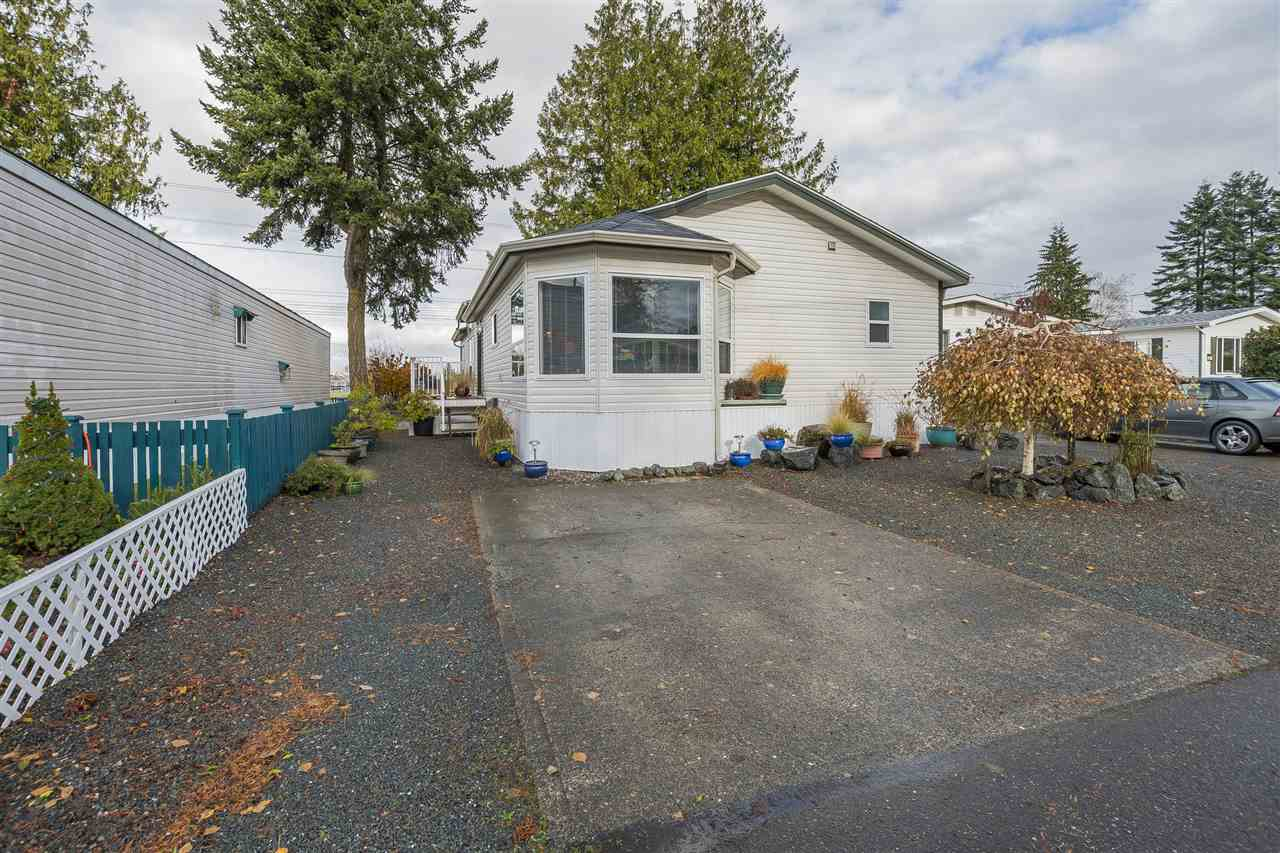 Check out this beautifully maintained spacious 1512 sq. ft. manufactured home in Maple Meadows Park (45 +). Featuring a huge master bedroom, with 4 piece ensuite & walk in closet. Large bright dining room with bay windows & great flowing kitchen. This 3 bedroom home offers a spacious 2nd & 3rd bedroom as well. Large living room & den, spacious laundry room& a second 4 piece bathroom complete this lovely home. The pride of ownership displayed in this home is obvious. Located close to all amenities & on a bus route. Park approval is required.
