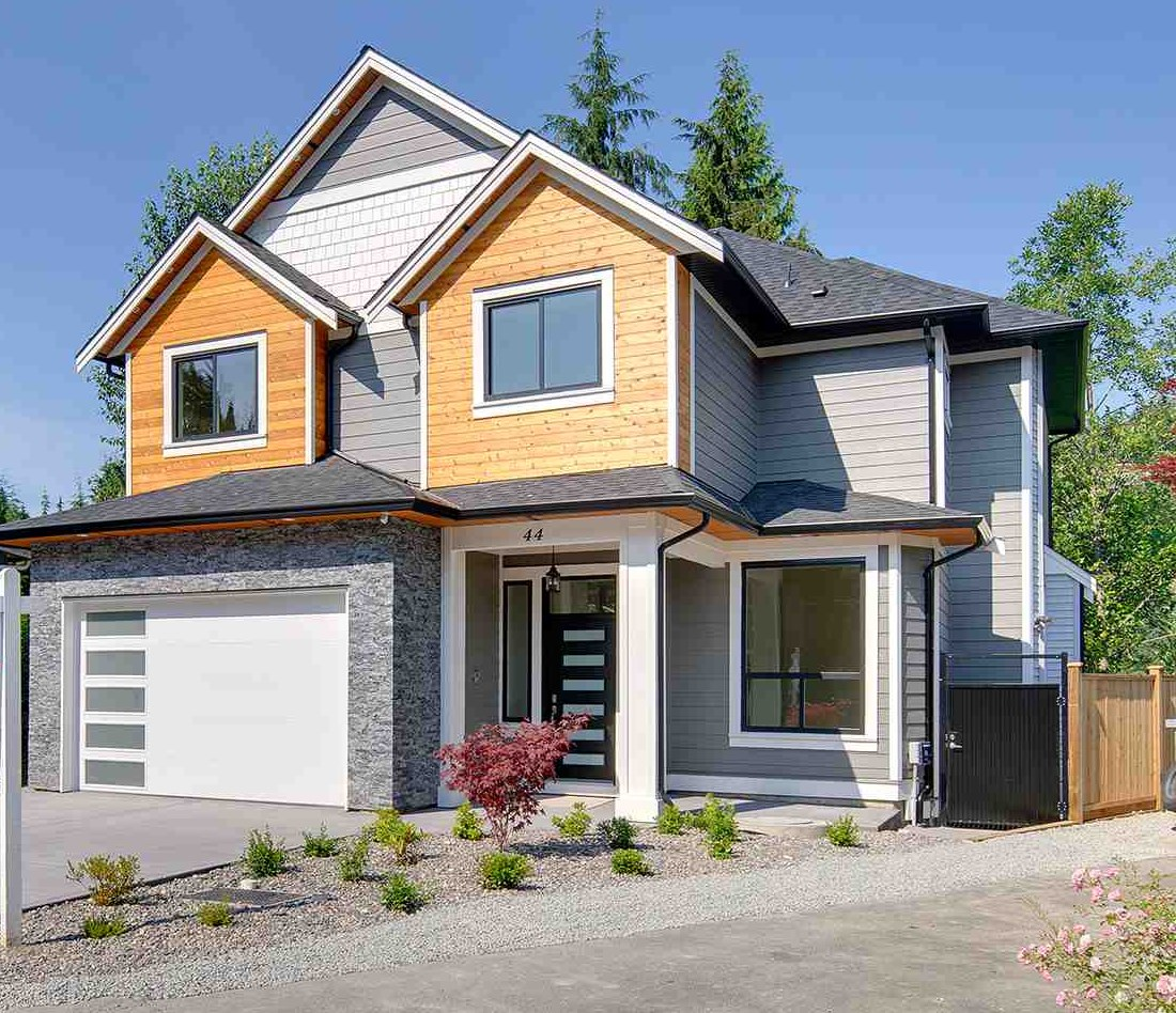 Brand new custom built home in Anmore. Open concept house is built by an experienced builder. This exceptional quality build has 5 bedrooms 3.5 washrooms, high quality laminate & tile flooring thru out, open plan layout, extensive light fixtures and appliances. The dream kitchen includes quartz counter-tops, built in oven and microwave, and a big center island. The great room is open to below making it an open space with an entertainment center. The main floor also includes a den, powder room and a laundry. Upstairs has 3 bedrooms with vaulted ceilings, main washroom and a beautiful master bedroom with an en-suite. The basement has a recreation room, 2 bedrooms, 1 washroom and an elegant bar area. Walking distance to Buntzen Lake.