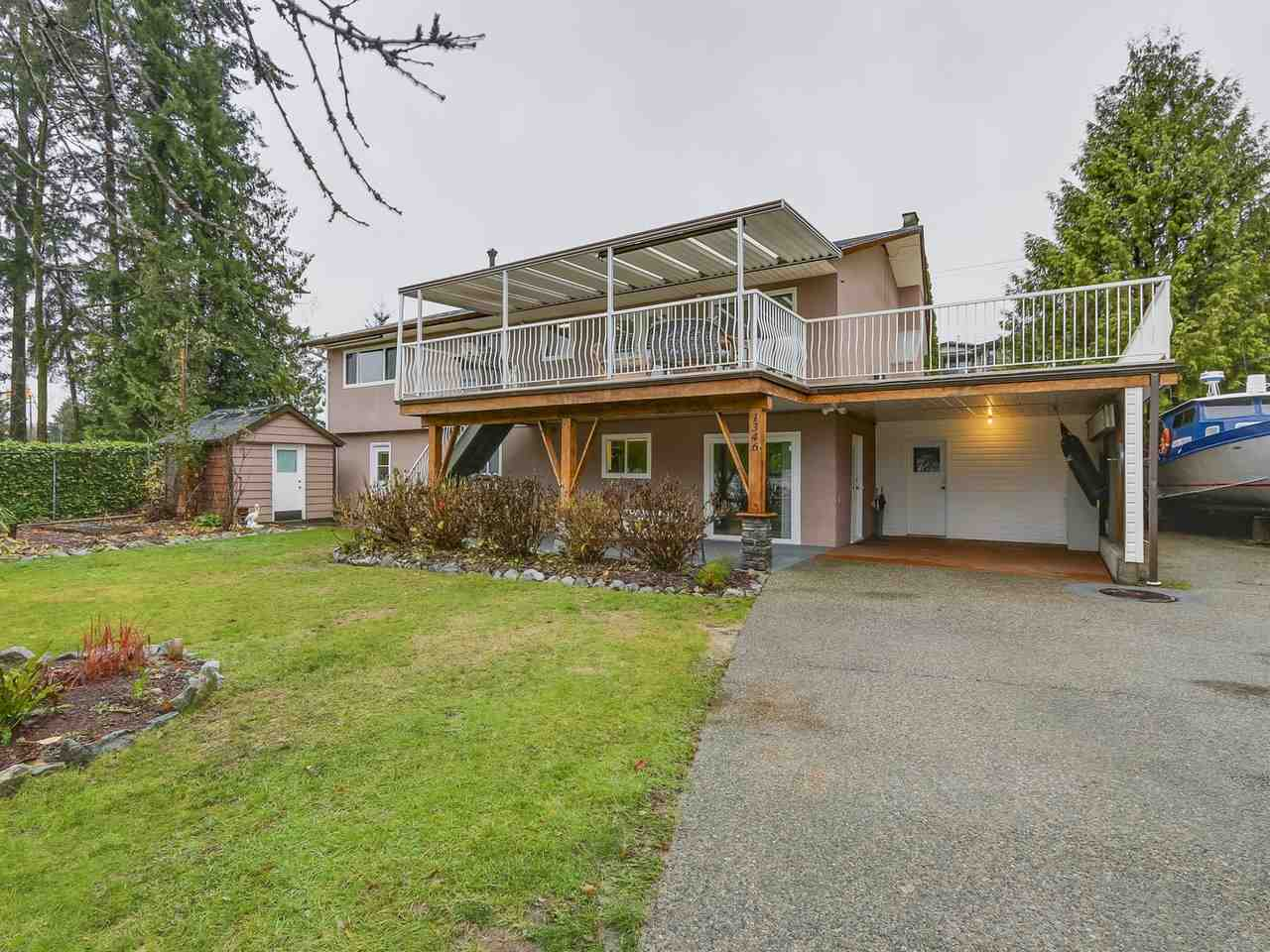 Beautiful 2-level house situated on a private 10,000+ sf lot in Hockaday, Coquitlam. On upstairs, spacious 3 bedrooms with 2 baths. Hardwood throughout living area and a brick decorated gas fireplace, large kitchen with slider out to 600+ sf covered deck. One downstairs, fully finished 2 bedrooms with 1 full bath, full kitchen with SS appliances, gas fireplace, huge living room, 2 separate entrances. A newer hot water tank and appliances. Walking distance to park, schools, skytrain and transit. Schools: K-5 Nestor Elementary, 6-8 Maple Creek Middle, 9-12 Pinetree or Dr. Charles Best Secondary. 1st showing open house 2-4pm Sat. & Sun. Dec 2nd & 3rd. Offers if any to be emailed to the listing agent by 5pm Monday, Dec 4th, 2017.