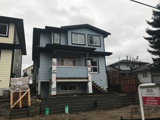 2 brand new homes in Burke Mountain community avail for occupancy early in the new year. 3 level home bsmt fully finished w/2 bdrm legal suite plus additional bsmt area for upstairs w/3pc bath & rec rm, can accommodate extended family or teenagers. Main floor w/9' ceilings, living rm w/electric f/p additional bdrm/den & 3pc bath. Large gourmet kitch w/engineered stone countertops, s/s appliances & bonus spice kitch fully outfitted w/appliances. Family & dining rm off open kitch that leads out to backyard & det 2 car garage. 4 bdrm up, master w/walk-in closet & 4pc ensuite. 3 more generous size bdrms, 1 w/4pc ensuite plus also 5pc main bath. Special features incl radiant in-floor hot water heat, central air conditioning & HRV
