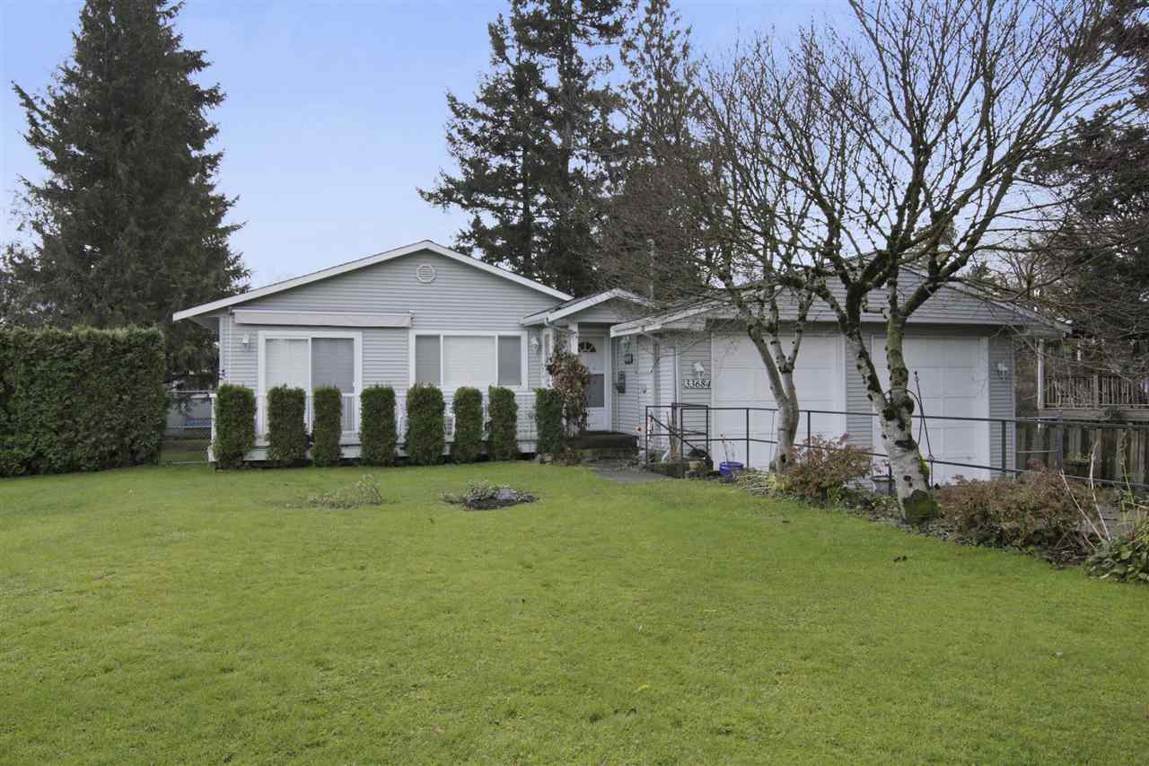 Your new home awaits you. Take a look at this well-kept rancher in Matsqui Village. This home features an open floor plan with 3 bedrooms and 1 � bathrooms on a large 8316 square foot lot. This home has an open kitchen with oak cabinets, shutter blinds, living room, and sunken family room with cozy gas fireplace. Other features include a new roof, double garage with extra high doors, lots of driveway parking, and a large laundry/mudroom. View the virtual tour and floor plan and call today to view this home!