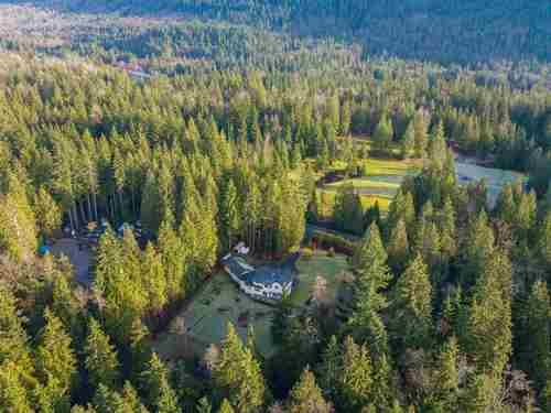 4.6 acres of privacy and country living.This beautiful, well maintained custom home has 3 car garage with drive-though to backyard, 4 good sized bedrooms and 3 bathrooms,office/ den ,Spacious open concept living room ,with in floor heating on main and maple hardwood flooring throughout.Bright Kitchen has skylights,new appliances,new corian countertops and massive island with loads of storage.Master bedroom has vaulted ceilings and a walk-in closet.Theres also a huge deck of the back over looking the pond . 300ft drilled well with state of the art water purifier. Possibility to put a Mobile on the property for family member. Zoning A-1