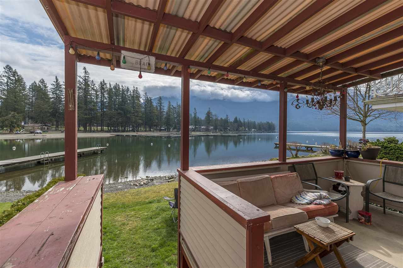 Very rare Cultus Lake water front property. Enjoy your summers in this cozy 3 bdrm cottage, 3 pc bathroom, gas fireplace, covered sundeck right on the lake. Can be rented in the off season or alternatively construct your new home on the 25 x 60 lot. Abundant recreation for the whole family 18 hold executive course, water sides, amusement park, waterskiing, boating, hiking and more. Only 1 1/2 hours from Vancouver. Dreams start here take advantage of this opportunity before its gone. Lake front property is hard to come by.