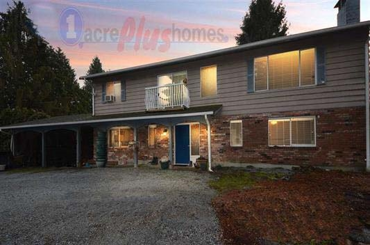 Look no further renovated 4 Bed 3 Bath 2412sqft home on a flat 4.54 Acres. This home boasts new hardwood flooring, light fixtures, designer paint, new high efficancy furnace, some updated windows, upgraded septic system, new upgraded electrical panel & a Huge deck that's perfect for entertaining while, enjoying Breathtaking views of Mt Baker & Garibaldi Mountain Ranges! Very private yard, with stunning perennial garden,  dozens of large mature blueberry bushes', cherry & plum tree's. Barn with hayloft included! Close to transit, shopping & recreation, make your appointment to view this property today! Don't miss out!