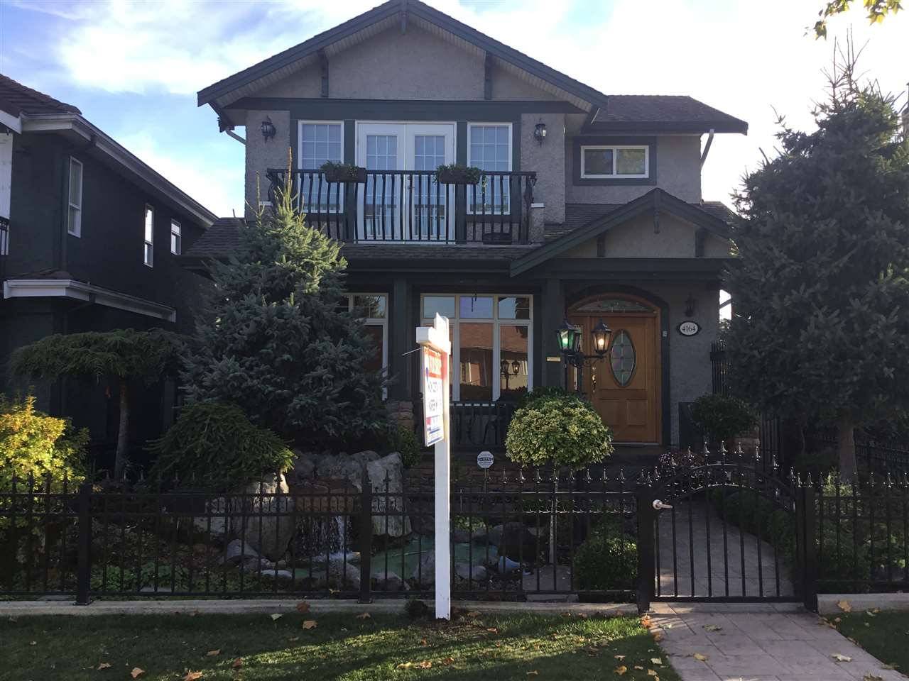 VANCOUVER HEIGHTS-FIRST TIME OFFERED FOR SALE - CUSTOM built Italian inspired 2 storey plus basement featuring 3 bdrms (one on the main), formal liv and din rm with f/p, open kitchen with island S/S appls and fam rm with f/p.Rec rm and wine rm down with private outside entrance.High end finishing throughout with granite counters and island, ceramic tile floors, high ceilings lots of cherry wood cabinets and so much more.Double garage, patios and amazing gardens, decorative pond, front and back fenced with iron picket fence and gates.Great location-walk to shopping, schools and transit.Quiet street with lots of parking.Call today for a private showing.Quick possession.