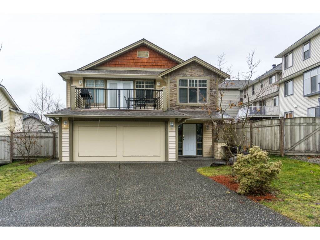 Great location in quiet Eastern Hillsides. This Basement Entry home is in a fantastic family friendly neighborhood. Steps from Unity Christian, minutes to hiking trails and golf course, and very easy freeway access. 10 minutes drive to Chilliwack and all amenities. Open floor plan and great room concept. Double french style doors lead off the dining room to a beautiful sundeck. 3 bedrooms up, and 1 in basement, and 3 bathrooms, and just over 2100 sqft. Finished basement with separate entrance, double car garage, and fully fenced yard. Call to book your private viewing.