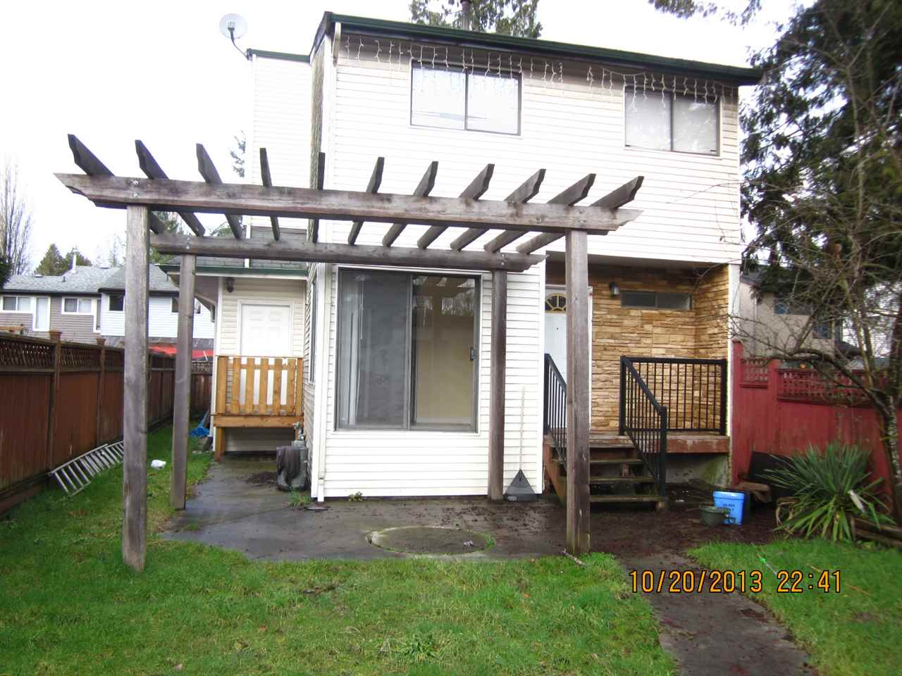 5 bedroom or 4+ den on the main floor with separate entrance ideal for home office. 2 story detached family home with single detached garage, fully fenced yard in a cul-de-sac. Perfect for the handy man to update to the needs of your family, approximate 400 sqft addition in 2010 with permits. Great location, walk to Westcoast Express, Skytrain, shopping, park, easy access to Hwy 1 and Lougheed. Furnace and Hot Water Tank 1 year old, quick possession possible.