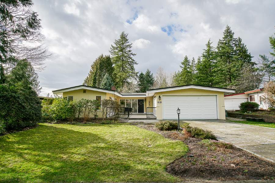 Lovely rancher with a walkout basement in very desirable Sunshine Hills! Located an easy walk to Sunshine Hills Elementary and Seaquam Secondary, this spacious, well maintained family home has a great layout with 1 of 2 bathrooms updated, some windows, hot water tank (2013) and roof (2006). A gardeners dream, the garden is quiet and serene, with tons of space and mature perennials. A fully fenced yard is perfect for a growing family with a nice sunporch to watch the kids outside. There is a south facing patio off the kitchen and family room for morning coffee or BBQ dining. Close to all amenities and commuter routes and steps from Watershed Park and Burns Bog. 1st time on market and being sold by the original owner.