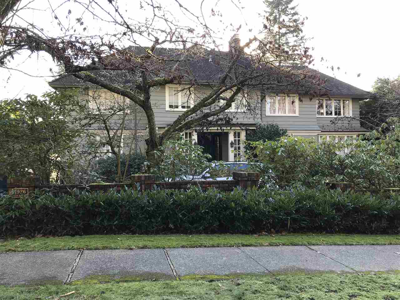Prestige first Shaughnessy location, this gorgeous 1930's Georgian styled house will be your dream-come-true home. Very well maintained park like garden, circular front driveway, 5 spacious bedrooms, south facing patio and beautiful landscaped backyard. Vancouver's most sought after neighbourhood with school catchment Shaughnessy Elementary, Princes of Wales, York House and Little Flower. Private viewing by appointment with 24 hours notice.