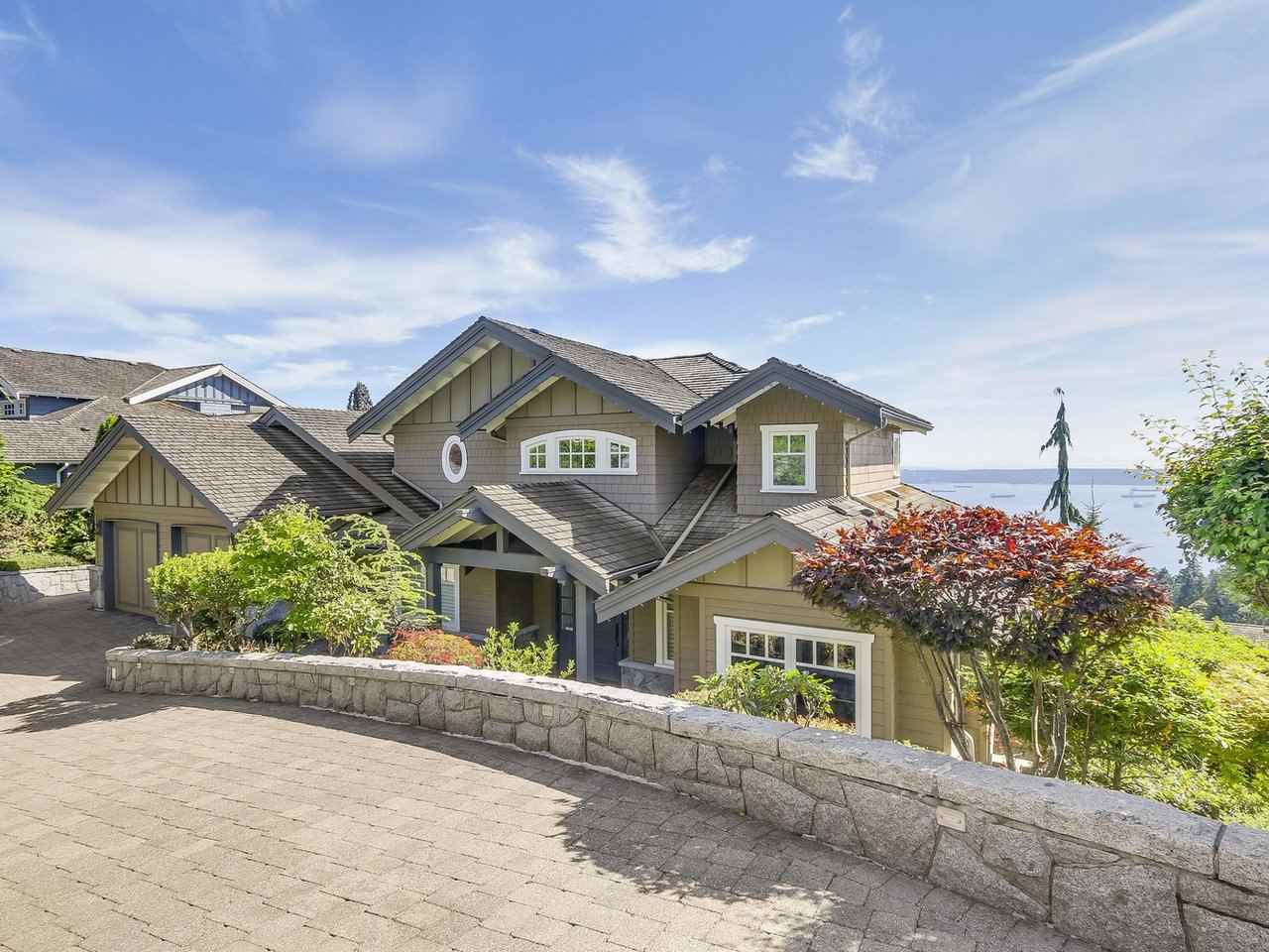 Prestigious Whitby Estates South-facing home, great layout, over 180 degrees panoramic view of the ocean, City and UBC. Original home of a master custom builder, environmental friendly quality materials & workmanship. Very spacious floor plan for growing family, 5 bedrooms, 6 baths, 5 fireplaces, state-of-the-art media room, wet-bar, wine cellar, huge recreation room that walks out to a garden with a pool and hot-tub. Gourmet kitchen with top-of-the-line appliances and walk-out to a huge patio for BBQ and entertainment. A walk-out balcony from the dining room and the master bedroom to enjoy the beautiful irreplaceable views and cruise ships sailing by. Air-con, most tiled floors are hot water heated, all other areas forced-air.