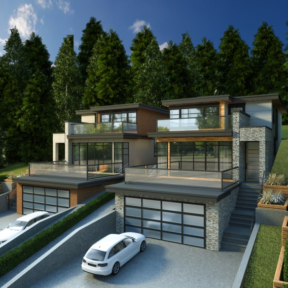 STUNNING Brand new 3 storey semi-waterfront home w/an elevator for comfort & ease, in the picturesque neighborhood of Deep Cove. This beautiful 4 bedroom & 5 bathroom home is set in a world class setting, surrounded by the serene waters of Indian Arm, family friendly beaches and the amazing hiking trails of Quarry Rock at your front door. Boasting over 3000 SF, this home features incredible views from the spacious patio, an expansive kitchen ideal for entertaining & a full 1 bdrm & bath legal suite below. Experience all that Deep Cove has to offer, just steps away from beautiful local shops, art galleries, schools, outdoor recreation, an outstanding dock, the infamous Honey's Doughnuts & trendy restaurants. Still time to customize!