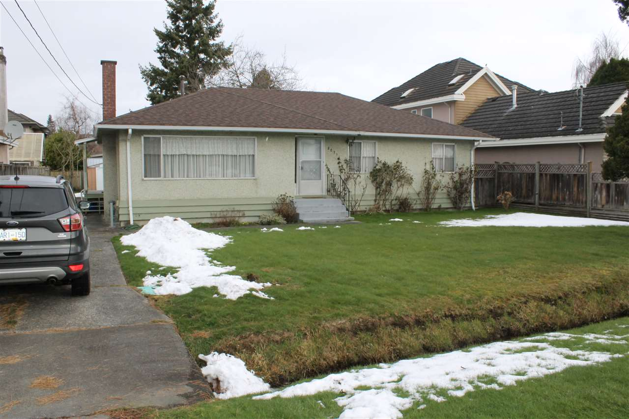"""THE PERFECT LOT! Rectangular 66 x 120', 7,920 Sq. Ft., South/North Exposure, no big trees, no easements or Right of Ways in Very Popular Neighbourhood of West Richmond! Solid """"Woods"""" Bungalow features newer Roof. This Property is surrounded by fabulous newer Mansions and a great Area to live! Do not disturb owner or Walk on the Property without talking to Listing Agent First"""
