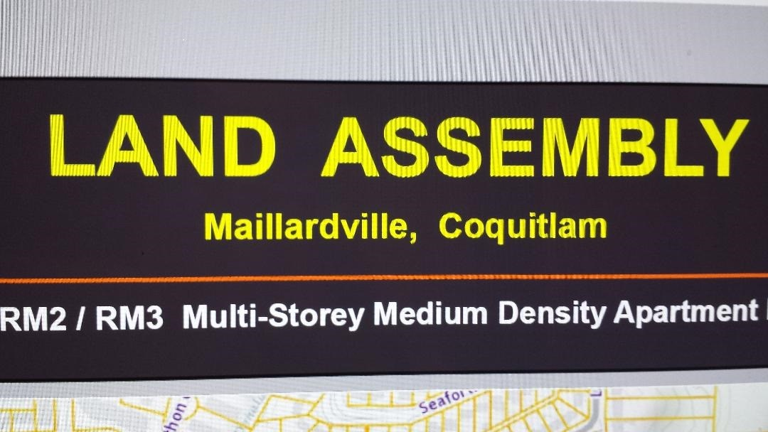 LAND ASSEMBLY INVESTMENT OPPORTUNITY Permitting construction of multi-storey residential apartment buildings up to a gross floor area of 1.85 (buyer to verify). It is in the prime location of Maillardville, Coquitlam, just minutes away from Highway #1, Lougheed Highway, transit, supermarkets, shopping and recreation.