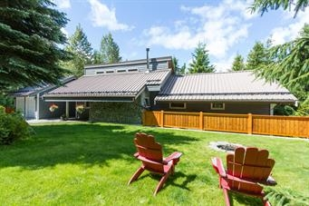 Beautiful 3 bed/2 bath home in Bayshores neighbourhood, just minutes from Creekside Village and gondola. Very private setting with huge sundeck out back, overlooking a stunning waterfall and stream. Tastefully finished with newly renovated bathrooms, vaulted ceilings, hardwood flooring and cozy wood fireplace. The lower level offers a 2.5 bed/2 bath suite with in suite laundry and private deck and provides great revenue or flexible options to incorporate into the main house. Beautifully landscaped with irrigated yard and recently re-built decks and fence along with lots of storage and parking for up to 7 cars. This house has the complete package!