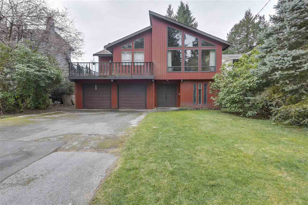 Honey! Stop the car! This is a good one! Set on a perfect street, in a quiet cul de sac, steps away from Lynn Canyon Park sits this lovely 2780 sqft gem. Built in 1980 with light and space in mind, this home offers huge vaulted cedar ceilings which are complimented by floor to ceiling windows in the main living, dining and kitchen areas. Eat in kitchen with skylight, adjacent family room, patio with backyard access. 3 bedrooms and 2 full bathrooms finish off the top floor. Ground level consists of 1 bed, 1 bath and a humongous rec room with roughed in fireplace and sliders leading you to a south facing, fully fenced flat backyard. Ground floor is partially unfinished but could easily be converted into a mortgage helper. Lynn Valley Elementary, Argyle Secondary, Brockton walking distance away. Steps to the endless trails Lynn Valley has to offer. Lot size approximately 56 x 129. Hurry, call now for your private tour!