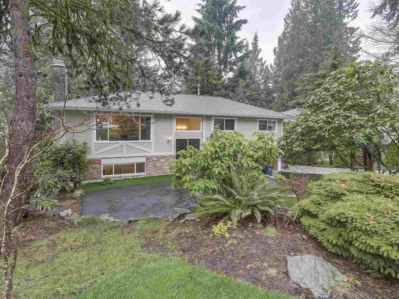 Perfect family home nestled in a peaceful neighbourhood. This gem has everything! Spacious kitchen open to both the living & dining areas plus 3 bedrooms & 2 bathrooms on the upper floor. Huge sun drenched deck off the dining area is perfect for entertaining! Recent upgrades include new roof, landscaping, new washer/dryer & updated bath in 1 bedroom nanny suite. Close to Blueridge Park & Elementary with CMHC bike trails at your doorstep! Open Sat/Sun April 21/22 2-4pm. Don't miss this one!