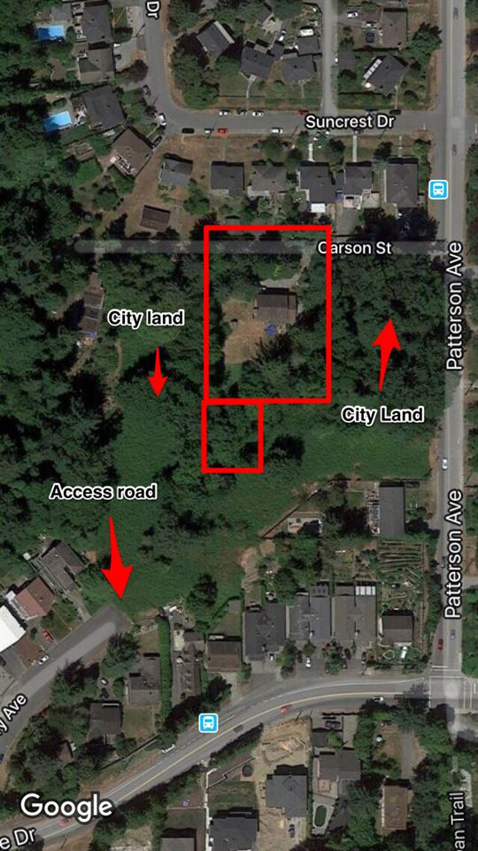 Developers and investors listen up. This one is a hidden gem tucked away in the desired South Slope neighbourhood. The lot is staggering 21,580 sqft. The property is a stand alone lot, surrounded by over 5 acres of city owned R2 zoned land. Great holding property!! Huge potential if you are patient and wiling to put in the work.