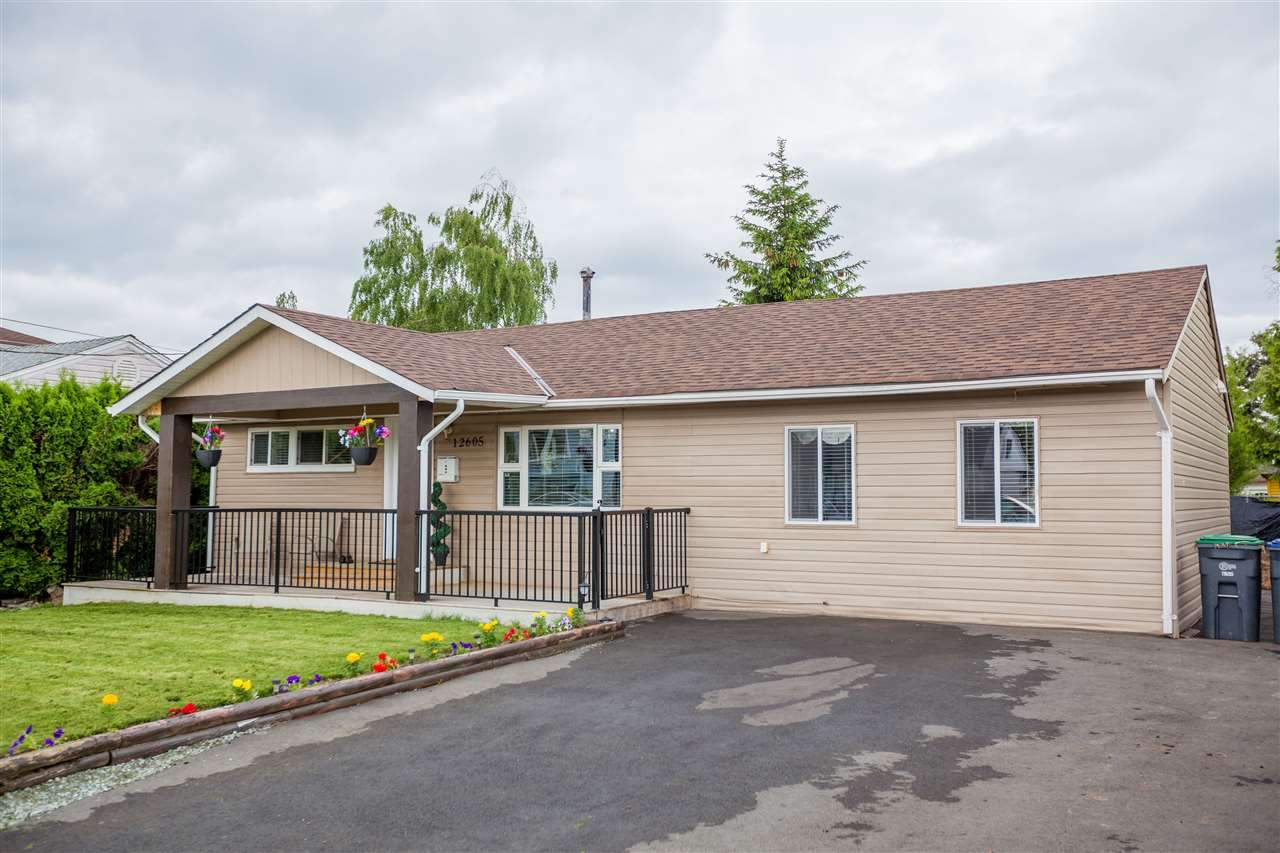 Beautifully renovated rancher. Partially new roof, brand new paint, floor, lights, driveway and furnace. Minutes away from Surrey Downtown. Scott Road sky train station, School, Bus stop and Park are walking distance. Developing area as Pattullo bridge is planned to be replaced by 2023. Drive by lots of new homes being constructed. Easy access to New Westminster, Burnaby, Coquitlam and Vancouver. Great opportunity for first time home buyers. Buy land at the price of a townhome. Open house date August 11 from 12-3 pm.