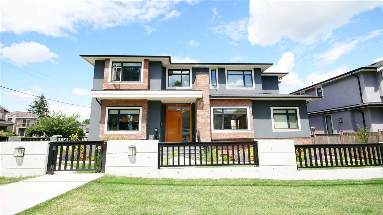 10 mins walk to Metrotown & skytrain. 4208 sqft 3 level custom built house with 2-5-10 year warranty. Every bedroom is an ensuite plus 2 additional bathrooms (10 bathrooms total). Gourmet kitchen/Wok kitchen, hardwood & tile flooring, granite counter tops, radiant heat, HRV, AirCon, built in vacuum, security cameras & alarm system; upstairs has 4 ensuite bedrooms (2 steam showers) and laundry room. Main floor has huge walkout deck (great for BBQ). 10 ft ceiling on the main floor. Huge recreation room in the basement, legal suite with private entrance/own living room/ kitchen/Washer/Dryer. Luxury appliances. Doubled insulation for the best efficiency and minimize sound interference. Used I-beam frame throughout the house for the most stable foundation.