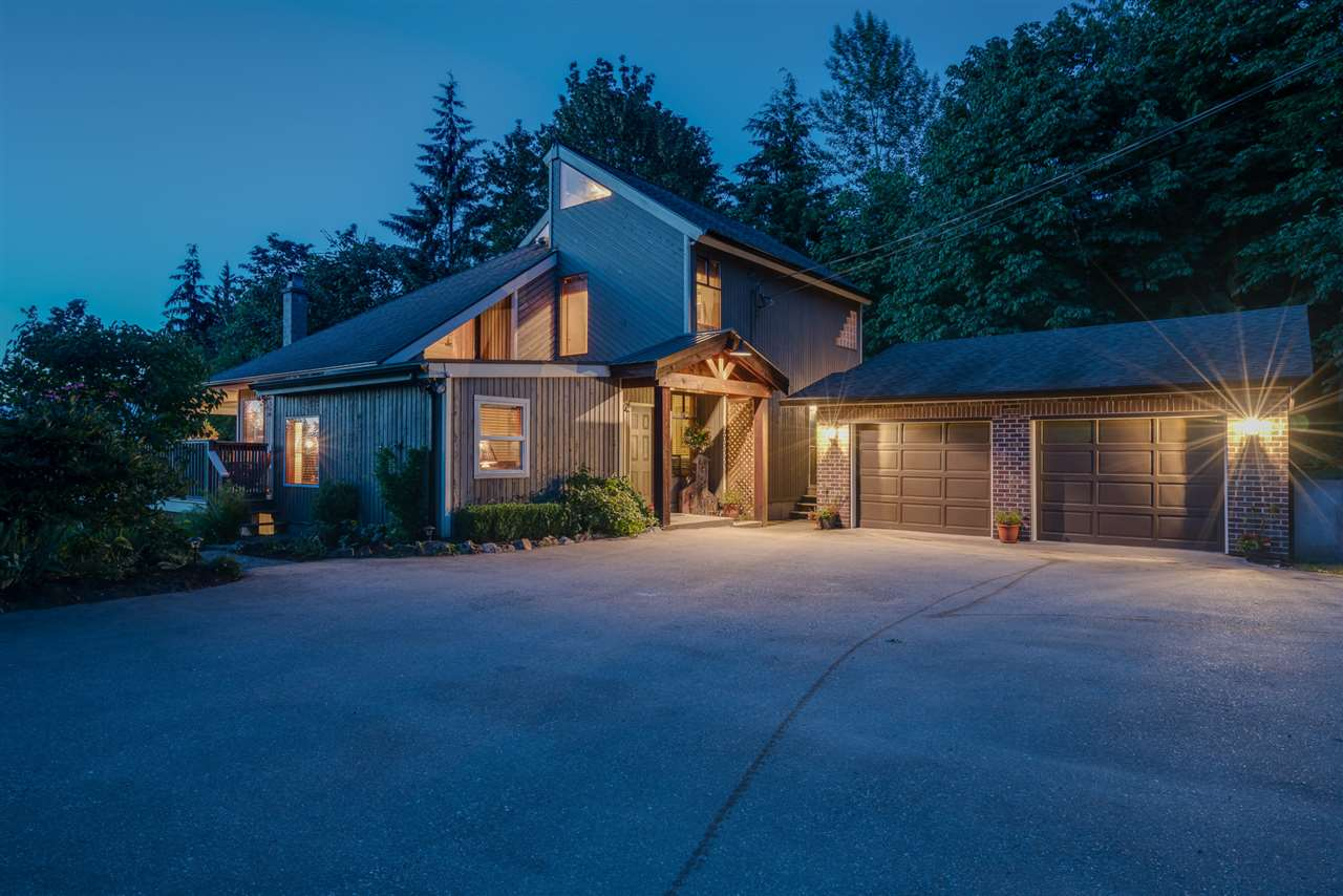 5.5 Acres with breathtaking views of the North Shore Mtns! A unique, west cost contemporary style home. 20ft vaulted ceilings in great room w/ tons of natural light. Large kitchen and dining area. Basement has potential for suite or teenager hangout w/ good sized rec room. Lots of cedar work & 3 fireplaces in this cozy home. Loaded w/ character. Master bed is massive retreat boasting it's own private balcony. Most of acreage is useable w/ loads of room to build a shop & even have 2nd driveway access. Take in the views on the large wrap around deck, or enjoy the outdoors w/large fire pit area for family functions. Could have options for a B&B. Features an oversized septic field. 30' x 25' detached garage Tons of parking for all!