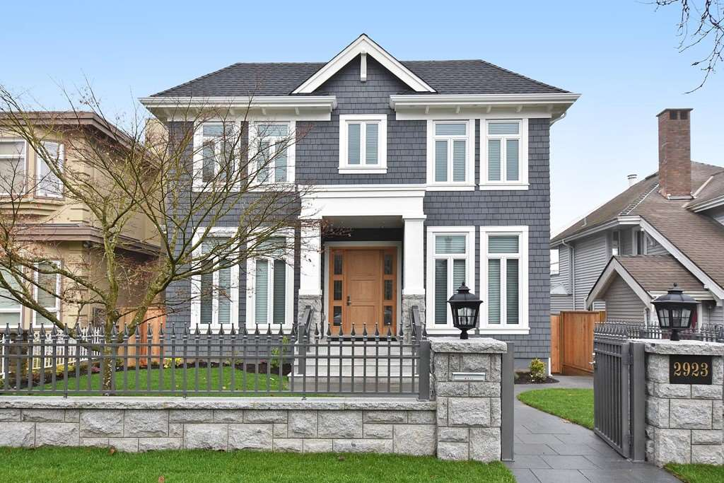 Super top quality custom-built home in prime Arbutus area. Lots of beautiful millworks, wainscoting, coffered ceiling, modern main & wok kitchens.   Oak hardwood floors on basement and second floors, nice tiles on main floor.   Top appliances, top bathroom fixtures, 42 sub-zero fridge, wolf stoves, HRV, air-con, TV alarm system, auto lawn sprinklers, professional landscaping and granite sidewalks.  3 bedrooms up with ensuites & vaulted ceilings.  Theatre room with projector with 100 inch-screen.  High ceilings on 3 levels. City, mountain views from master bedroom.  Triple garage with alarm.  Steps to parks, good schools and restaurants. 2-5-10 National Home Warranty.  The price is including GST.