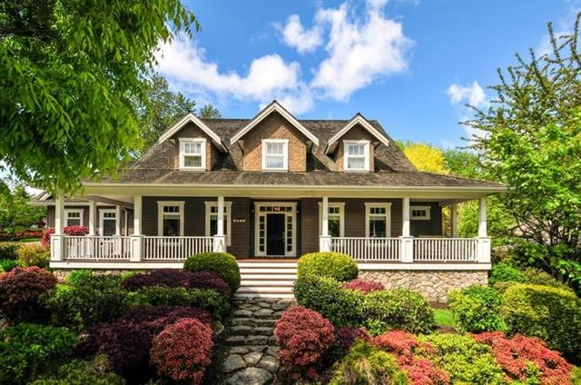 6 BEDROOMS - 6000 SF of Quality & CHARACTER spread over 3 levels - Penner custom home on large PRIVATE Corner/west facing backyard with 16x32 SALT WATER POOL/sport court + backs onto GREENBELT! Spacious Family room with cental fireplace and access to a large covered deck thru dble French doors and Spectacular Dream Kitchen (redone 2013) with Large center island, granite counters, high-end appliances and a WALK-IN pantry. Warm foyer area splits large dining room and living room with beautiful reclaimed hardwood PLANK FLOORS thru-out main. 2 outstanding bedrooms with 2 full bathrms up and Master on Main w/access to pool area. Fully finished basmt with office/fitness rm/lrg games rm/rec room/wine cellar + Media rm over garage.