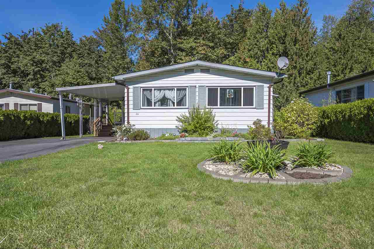 Well presented 2 bedroom home in a popular adult orientated park (19+). This home consists of a modern kitchen with ample dining space, a good size living room and two bedrooms and modern bathroom. Further benefits include a good size backyard looking onto green space, a covered deck and a large shed for storage. Liumchen Mobile Home Park is a quiet, well maintained park that is pet friendly (subject to park approval) PAD rent is $423 and includes Water, snow removal, Septic and garbage removal.