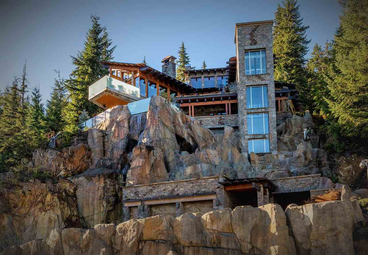 STONECLIFF FALLS, said to be the most photographed home in Whistler is on the market. Built for the discerning individual who understands and appreciate QUALITY and likes their PRIVACY. Built atop a cliff, amazing views and not a neighbor in sight, accessed via commercial elevator, this home is one of the more unique and finest quality builds in Whistler. Intimate, yet designed for hosting - multiple entertaining areas, open concept kitchen, two steam rooms, huge  hot tub, bar and pool table area, over 2000 sqft of outdoor living space. Ski to your back yard, hike or snowshoe the Whistler mountain trails out your back door. All this and an easy walk to the Village. UNIQUE. Too many details to itemize. Serious enquiries only.