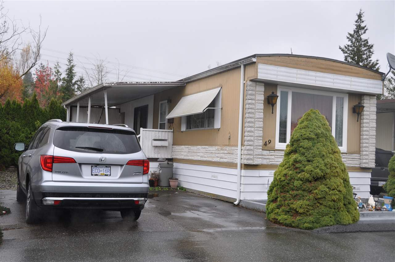 GEORGIAN PARK 55+ age restricted mobile home park. This 14'x66' 2 Bedroom modular home has huge bathroom with soaker tub plus separate shower. Large attached sundeck and room to park up to 3 vehicles. N Gas furnace, 2 storage sheds. Quiet location in park backs onto creek. One small pet allowed.