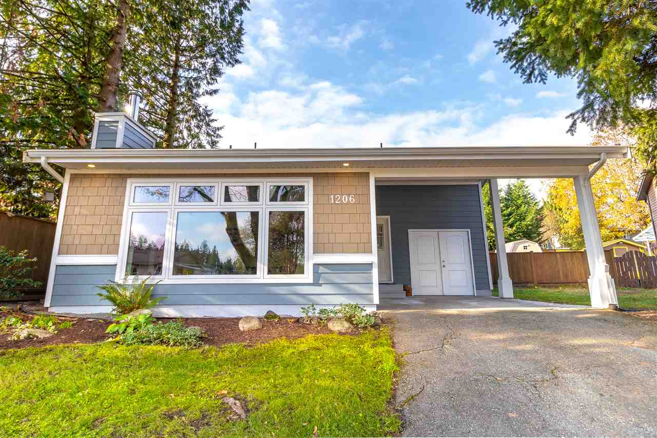 Ideal quiet cul-de-sac w/lovely, peaceful garden setting (1 of New Horizons largest lots). Fully fenced level backyard w/a newer brick patio enjoying SW exposure extending the full width of home. You would never guess you are steps from school, skytrain, Town Centre Park & Coquitlam River Trails. This 2 storey home has the welcoming warmth of a spacious west coast contemporary-like real hardwood floors & vaulted separate living rm w/new heat efficient wood-burning FP set in stone. The household cook will love the well-equipped updated kitchen w/SS appliances & pendant lights over a side breakfast bar. Any parent/entertainer will appreciate the open great room effect off the adjacent family room accessing the patio. Full size 4yr old front loading machines in laundry rm. Main floor powder rm & den/guest room plus 3 good size upstairs bdrms. All 3 bathrooms completely updated, ensuite w/shower and kids/guest bath w/heated tile floor. New windows in 2008 & roof replaced 2012. No secret that this is superb value!