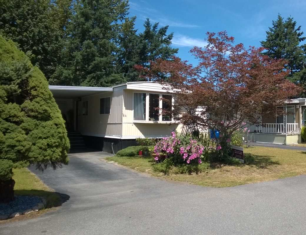 """The seller will compensate the buyer, at closing, $25,000 towards improvements and will pay 6 months pad rent in the amount of $4650. """"Paradise Park"""" is one of the most well kept and sought after retirement parks (55+) in Abbotsford. A safe place to live with friendly neighbors, restaurants and shops only 5 mins away. This home offers a very large and private back yard with storage shed and room to park your RV. One small pet is permitted. Rentals are not allowed. Exterior upgrades are required prior to a new buyer moving in. Measurements are deemed to be correct, buyer to verify, if important."""