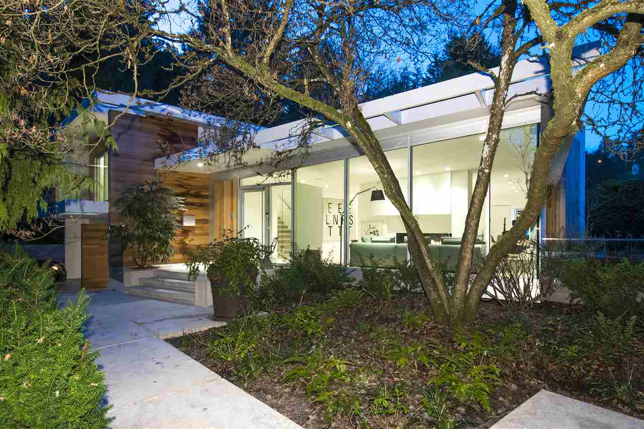 Stunning custom built contemporary home w/ 3,900sqf of living on a huge 12,198sqft lot w/a focus on indoor/outdoor living w/massive windows leading to the backyard, outdoor pool, sun lounge, sitting & BBQ area. Rebuilt in 2017 w/original foundation from 1957 this modern home includes keypad access & back up battery up to 6 mths if power goes out, Alexa controlled lights and built in surround sound. Main lvl includes a beautiful open kitchen w/large island&breakfast bar and top of the line appliances, living, dining, office & 2pc powder. Upper lvl features master w/huge walk-in closet, private balcony access and 6pc ensuite w/Juliet sinks, soaker tub, ran shower & hand held. Lower lvl contains 3pc bath for the pool, mud/laundry room, bedroom, 4pc bath & massive storage.